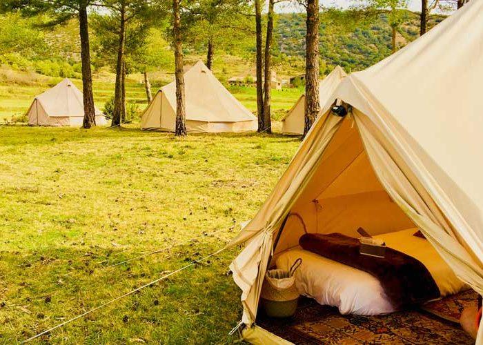 Campamento en plena naturaleza